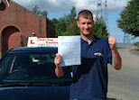 James had to pass his Practical Driving test quickly in Preston, Lancashire
