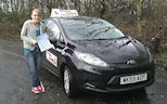 Annabel passes her UK Practical driving test in Preston with no minors